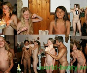 Photo from a nudist family album – naturist birthday