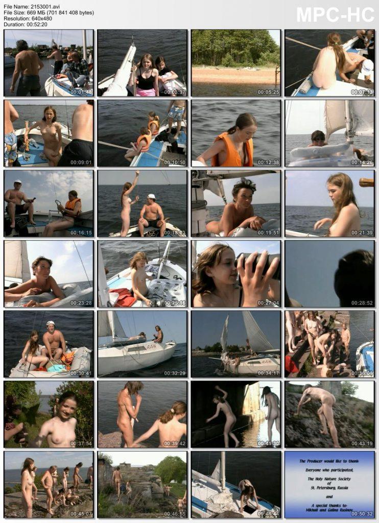 Family nudist sea voyage