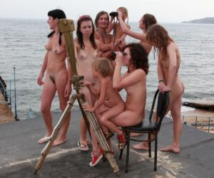 Young nudist families visit weekend watch tower
