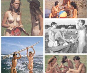 Young naturists – vintage photos
