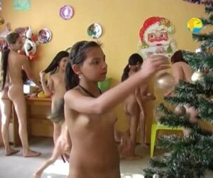 Christmas – Nudist Family Party